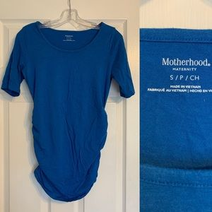 Motherhood Maternity cobalt blue top Small